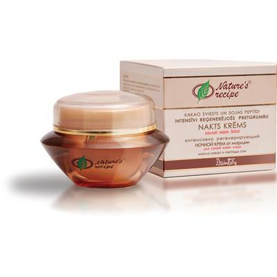 Natures recipe интенсивно регенерирующий ночной крем от морщин для сухой кожи лица dzintars (Dzintars)
