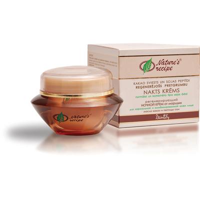 Natures recipe регенерирующий ночной крем от морщин для нормальной и комбинированной кожи лица dzintars (Dzintars)