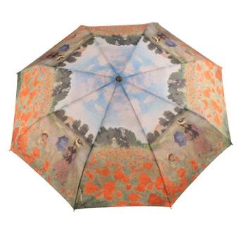 Складной зонт автомат по картине клода моне поле маков galleria (Galleria)