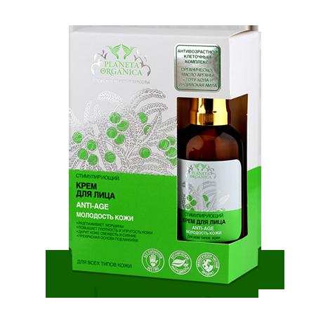 Крем для лица anti-age для всех видов кожи planeta organica
