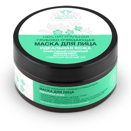 Маска для лица очищающая для жирной и комбинированной кожи planeta organica (Planeta Organica)