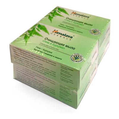 Очищающее защитное мыло с нимом и куркумой 4шт. himalaya herbals (Himalaya)