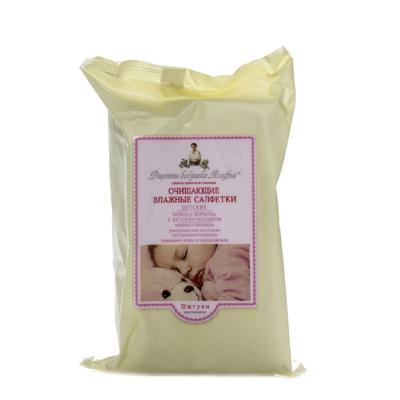 Влажные салфетки для детей очищающие череда и алоэ-вера 72 шт. рецепты бабушки агафьи (Рецепты Бабушки Агафьи)