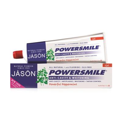 Гелевая зубная паста powersmile отбеливающая с фтором и coq10 jason (Jason)