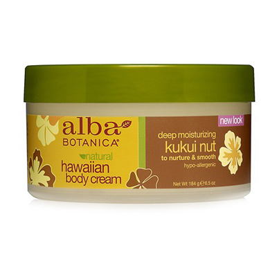 Гавайский натуральный глубоко увлажняющий крем для тела kukui nut с маслом кукуйи alba botanica