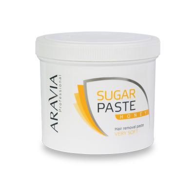 Сахарная паста для депиляции медовая очень мягкой консистенции aravia professional