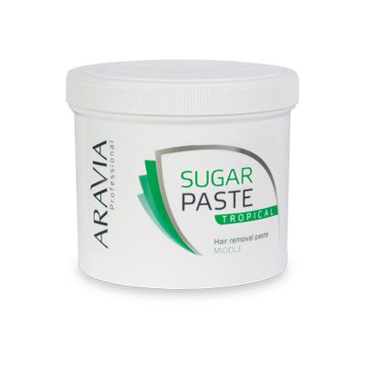 Сахарная паста для депиляции тропическая средней консистенции aravia professional (Aravia)