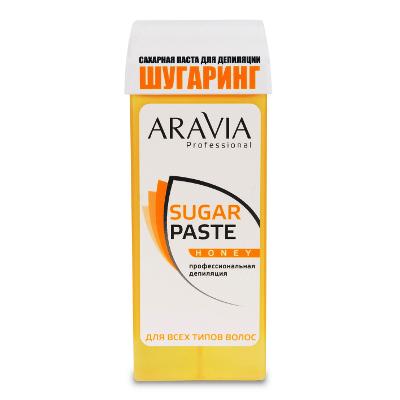 Сахарная паста для депиляции в картридже медовая очень мягкой консистенции aravia professional (Aravia)