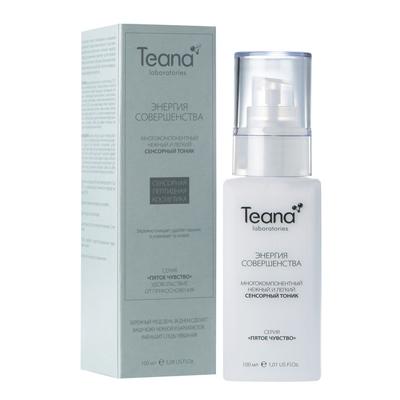 Многокомпонентный сенсорный тоник для очищения кожи и удаления макияжа teana
