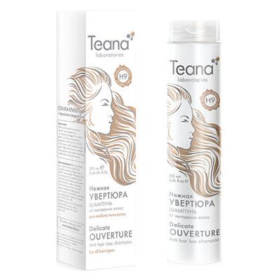 Шампунь от потери волос с мультивитаминным комплексом и листьями адиантума teana