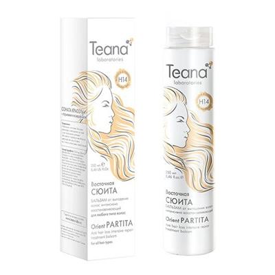 Интенсивно восстанавливающий бальзам от потери волос с ферментами и клетками буддлея давидии teana (Teana)