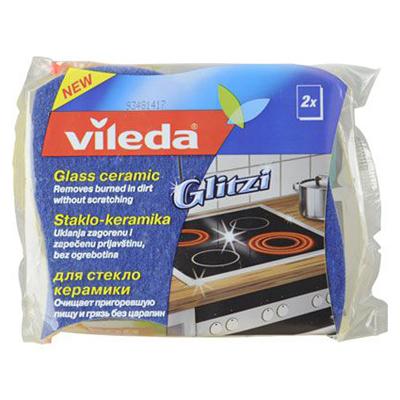 Губка для стеклокерамических плит 2 шт vileda