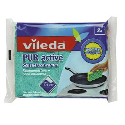 Губка для плит пур-актив  2 шт vileda (Vileda)