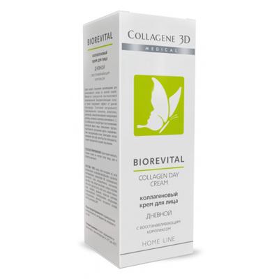 Коллагеновый крем для лица с восстанавливающим комплексом biorevital (дневной) medical collagene