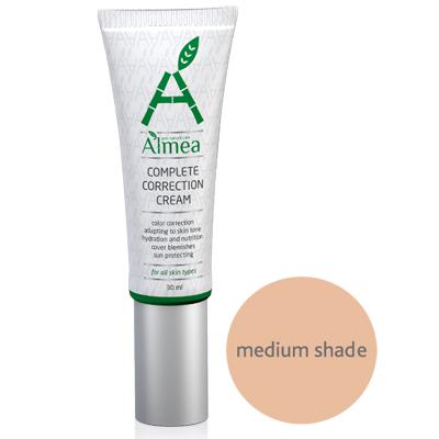 Многофункциональный крем для коррекции тона cc cream средний оттенок almea