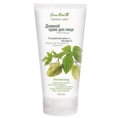 Дневной крем для лица уссурийский хмель и витамин е 100 мл green mama (Green Mama)