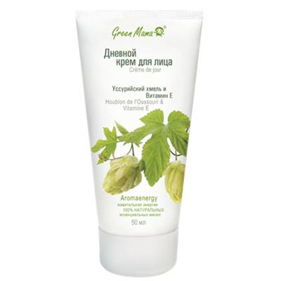 Дневной крем для лица уссурийский хмель и витамин е 50 мл green mama (Green Mama)