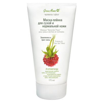 Маска-пленка для сухой и нормальной кожи земляника и цвет липы green mama (Green Mama)