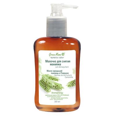 Молочко для снятия макияжа масло зародышей пшеницы и ромашка green mama (Green Mama)