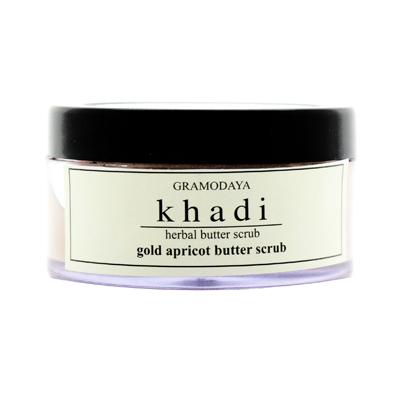 Омолаживающий крем-скраб для лица абрикосовая косточка и золото indian khadi
