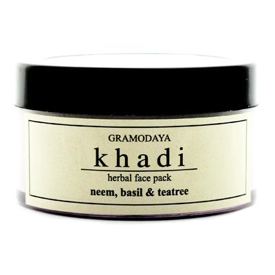 Регулирующая маска для лица с нимом чайным деревом и базиликом для проблемной кожи indian khadi (Indian Khadi)