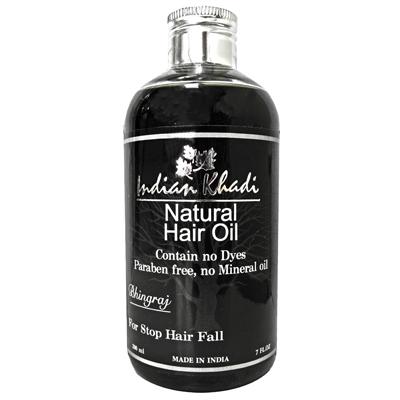 Травяное масло против потери волос с эклиптой белой indian khadi