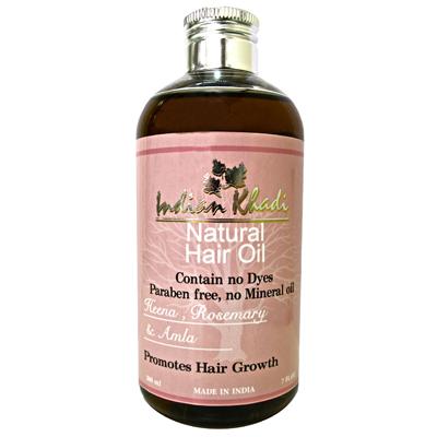 Восстанавливающее масло для волос с амлой, хной и розмарином indian khadi