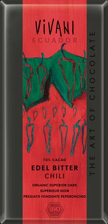 Превосходный темный эквадорский шоколад с острым перцем vivani (Vivani)