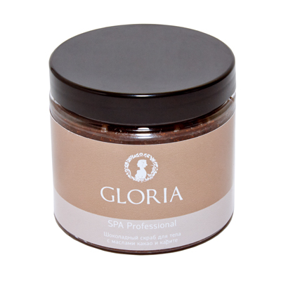 Шоколадный скраб для тела с маслами какао и карите gloria spa (Gloria SPA)