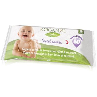 Детские влажные салфетки из органического хлопка organyc