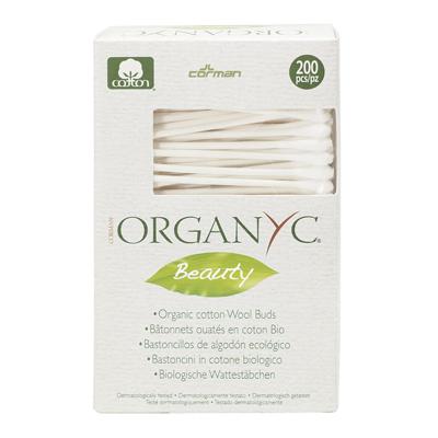 Ватные палочки из органического хлопка organyc