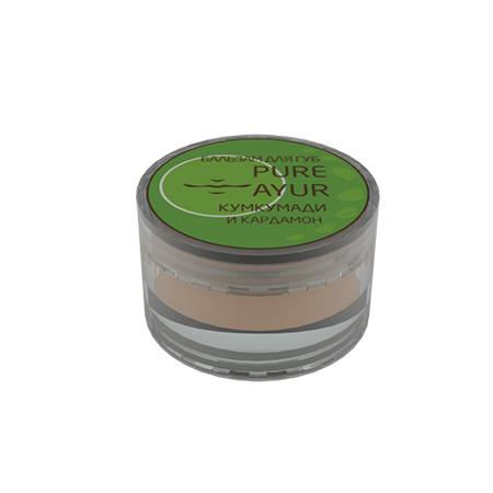 PURE AYUR - КУМКУМАДИ Бальзам для губ кардамон pure ayur