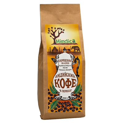 Индийский кофе в зернах  espresso blend hindika