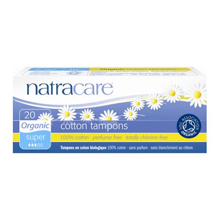 Био тампоны super без аппликатора natracare (20 шт) (Natracare)