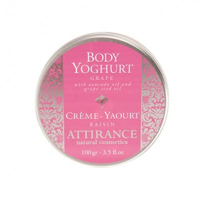 Крем-йогурт для тела виноград attirance (100 гр)