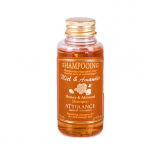 Шампунь мед и миндаль для сухих волос attirance (75 мл)
