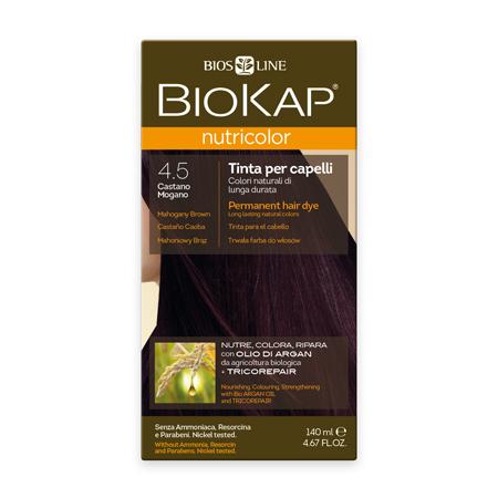 Стойкая натуральная крем-краска для волос biokap nutricolor (цвет махагон) biosline