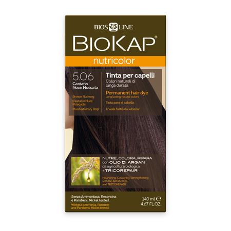 Стойкая натуральная крем-краска для волос biokap nutricolor (цвет коричневый/мускатный орех) biosline (Biokap)