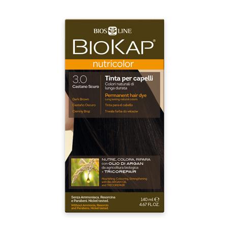 Стойкая натуральная крем-краска для волос biokap nutricolor (цвет темно-коричневый) biosline