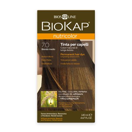Стойкая натуральная крем-краска для волос biokap nutricolor (цвет средний блондин) biosline