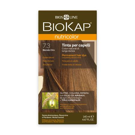 Стойкая натуральная крем-краска для волос biokap nutricolor (цвет золотистый блондин) biosline
