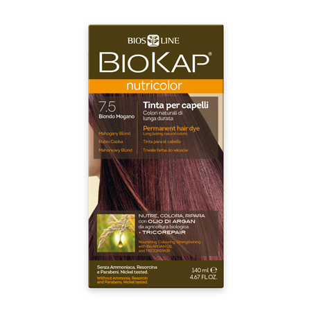 Стойкая натуральная крем-краска для волос biokap nutricolor (цвет махагоновый блондин) biosline