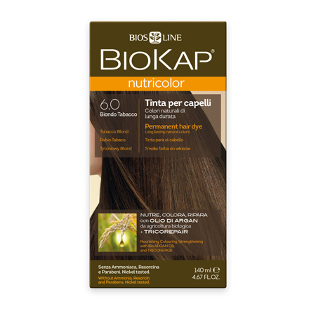 Стойкая натуральная крем-краска для волос biokap nutricolor (цвет табачный) biosline