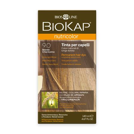 Стойкая натуральная крем-краска для волос biokap nutricolor (цвет очень светлый блондин) biosline