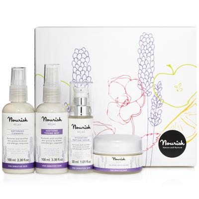 Подарочный набор для ухода за чувствительной кожей лица nourish (NOURISH)