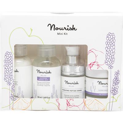 Набор миниатюр для ухода за чувствительной кожей лица nourish (NOURISH)