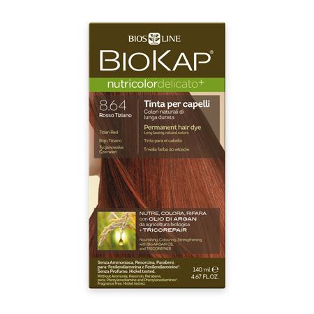 Стойкая крем-краска для чувствительных волос biokap nutricolor delicato (цвет каштаново-золотистый) biosline