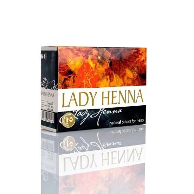 Краска для волос на основе хны lady henna aasha (цвет черный  индиго) ааша (ААША)