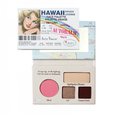 Палетка теней autobalm- hawaii the balm