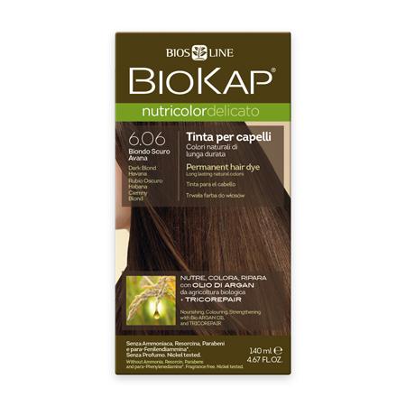 Стойкая крем-краска для чувствительных волос biokap nutricolor delicato (цвет гавана) biosline